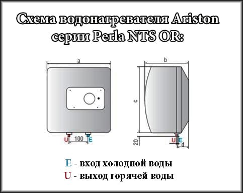 Схема бойлера Ariston Perla NTS OR PL (PE)