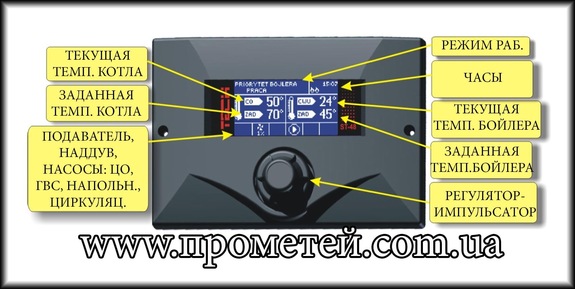 Контроллер Теч СТ-48: лицевая панель